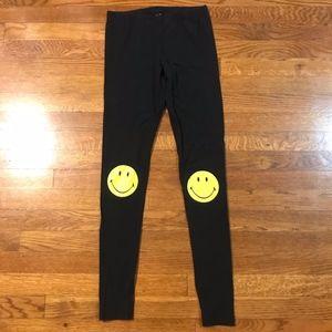 H&M Smiley Face Knee Leggings Sz S